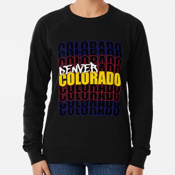 Denver Colorado State Flag Typography Lightweight Sweatshirt