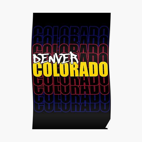 Denver Colorado State Flag Typography Poster