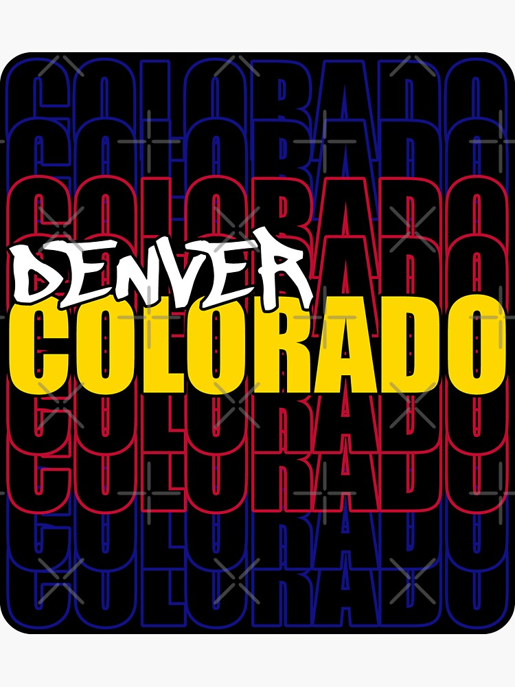 Denver Colorado State Flag Typography by that5280lady