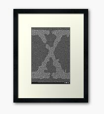 The X-Files Pilot Script - White Framed Print