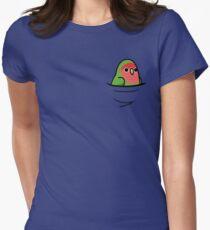 Zu viele Vögel! - Pfirsichbedeckter Lovebird Tailliertes T-Shirt