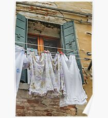clothes hanging Poster