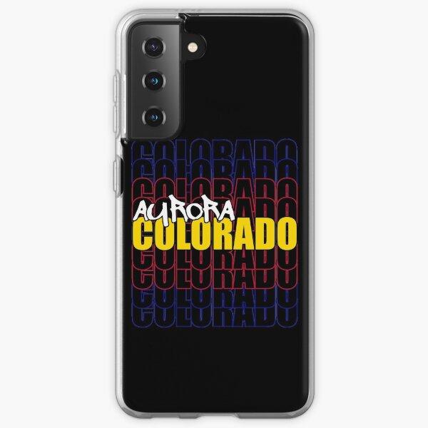 Aurora Colorado State Flag Typography Samsung Galaxy Soft Case