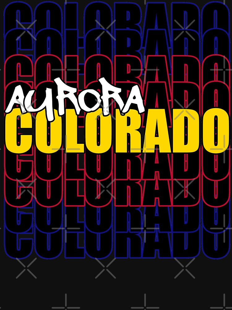 Aurora Colorado State Flag Typography by that5280lady