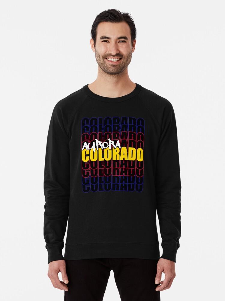 Alternate view of Aurora Colorado State Flag Typography Lightweight Sweatshirt