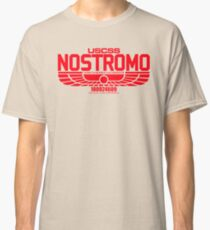 NOSTROMO ALIEN MOVIE STARSHIP (RED) Classic T-Shirt