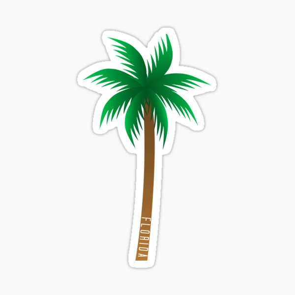 Florida Palm Tree Sticker