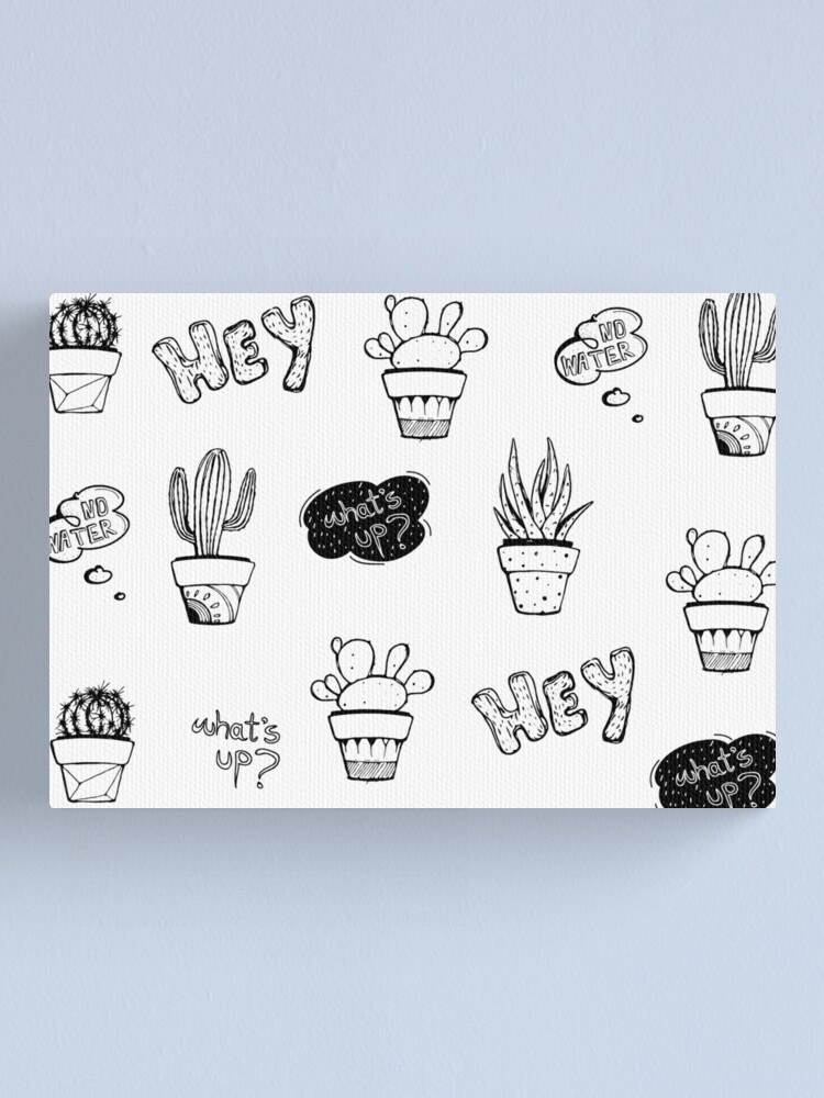 Alternate view of Funky Cactus Pattern Canvas Print