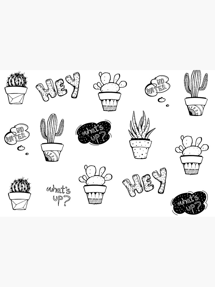 Funky Cactus Pattern by mirunasfia