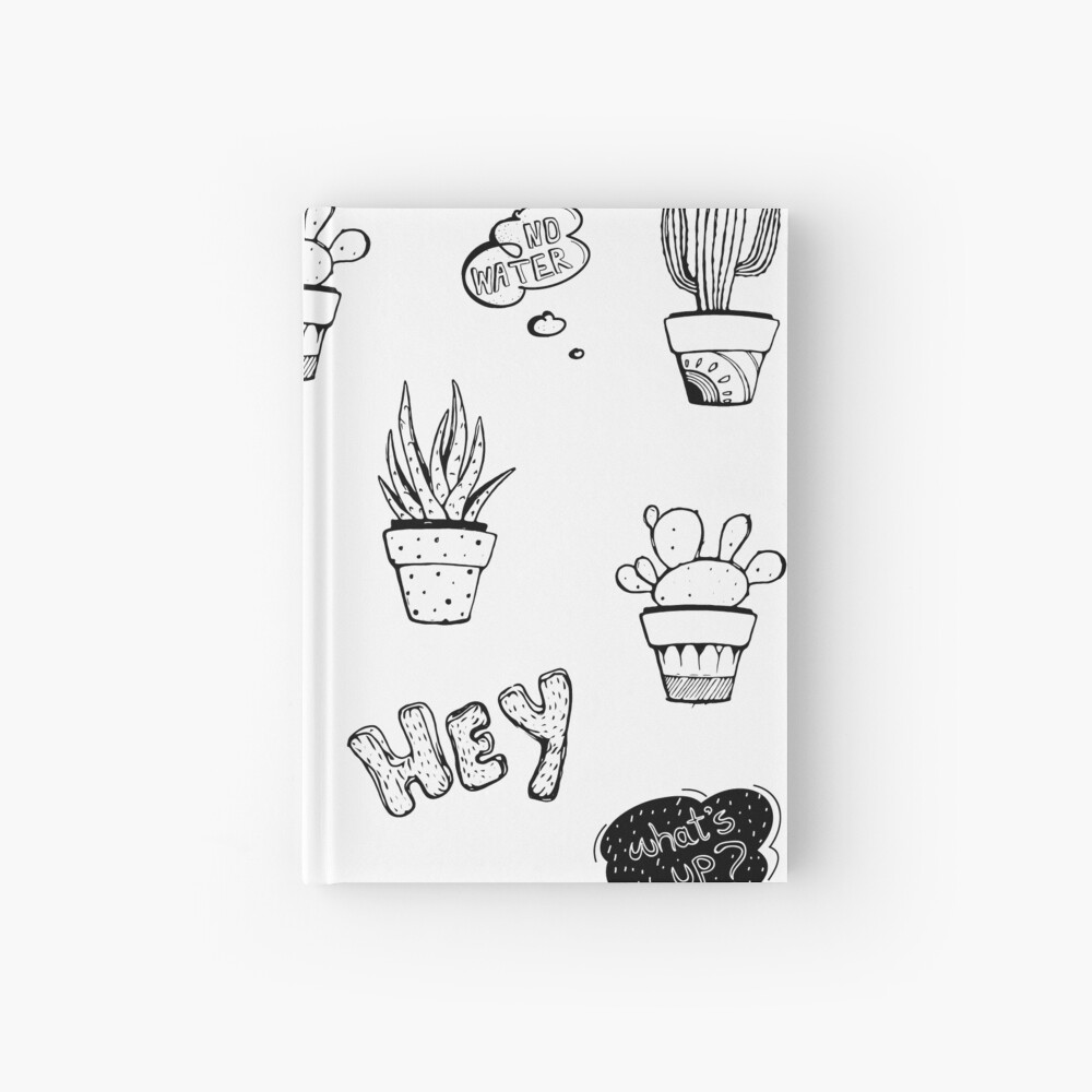 Funky Cactus Pattern Hardcover Journal