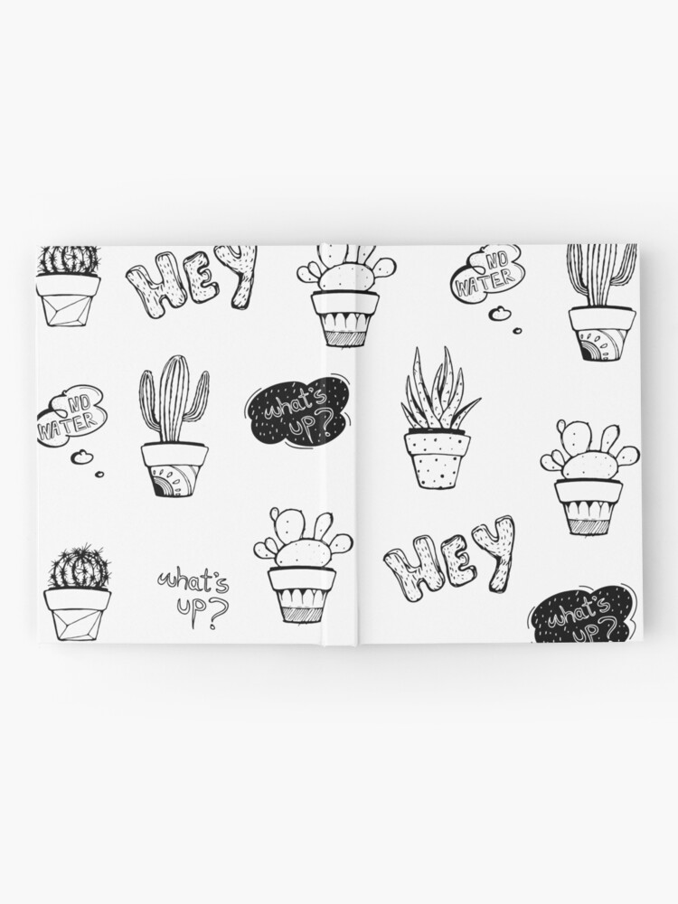 Alternate view of Funky Cactus Pattern Hardcover Journal