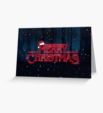 Stranger Things  - Merry Christmas Greeting Card