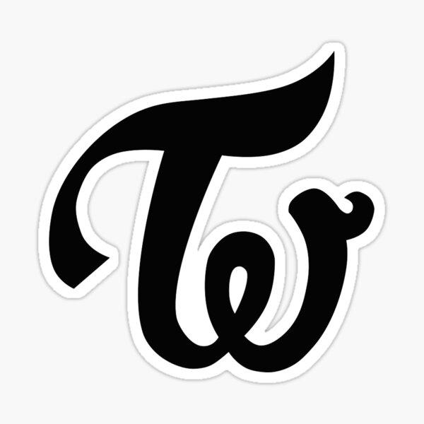 Twice - Logotipo - Negro Pegatina