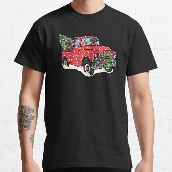 Black Labs Christmas Red Truck Classic T-Shirt