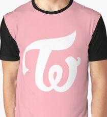 Twice - Logo - White Graphic T-Shirt
