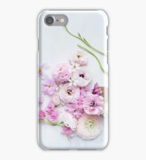 Anemones, clematis & cherry blossom iPhone Case/Skin