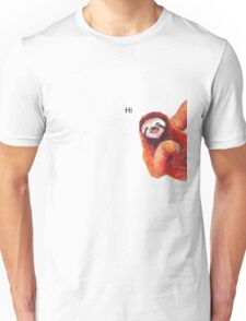 "Sloth ""Hi"" Unisex T-Shirt"