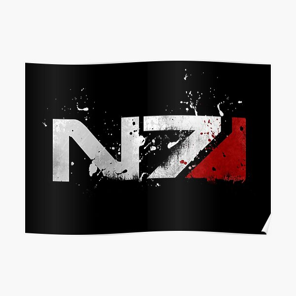 Mass Effect Distressed N7 Poster
