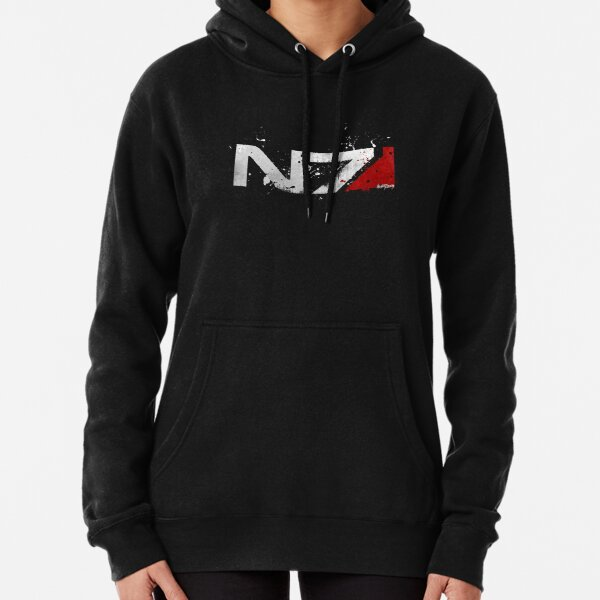 Mass Effect Distressed N7 Pullover Hoodie