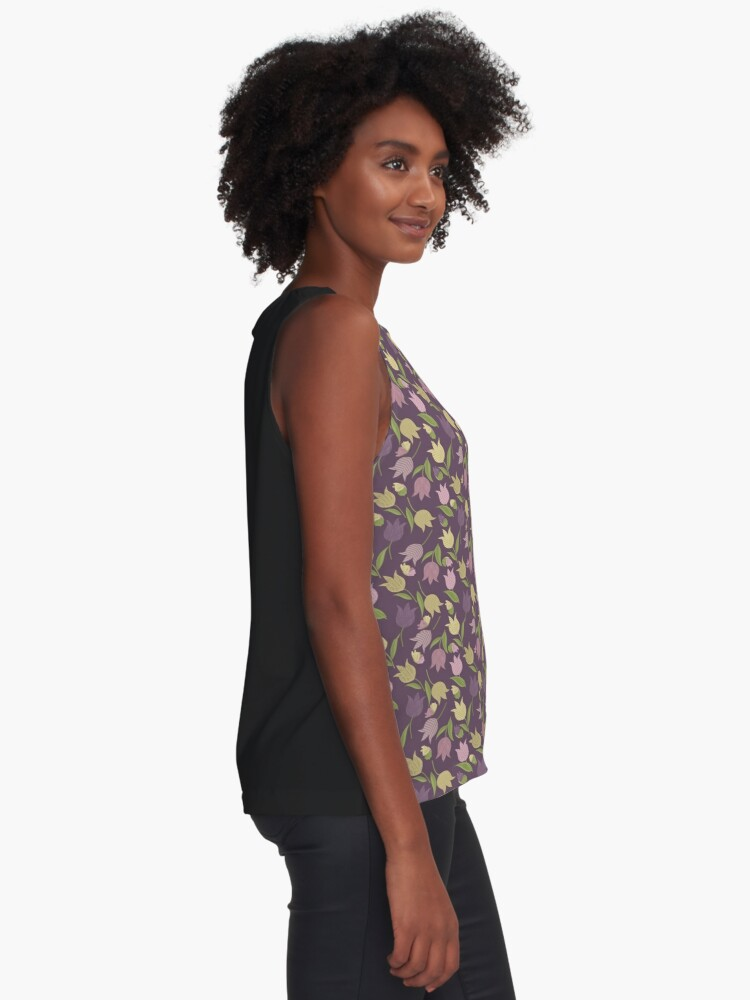 Alternate view of Tulips Pattern  Sleeveless Top