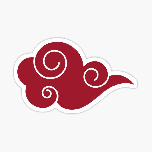 Rote japanische Wolke Sticker