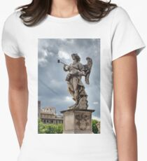 Roman Angel Statue Photo Womens Fitted T-Shirt