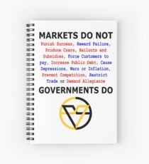Markets DO NOT, GOVERNMENTS DO by Paine's Torch Spiral Notebook