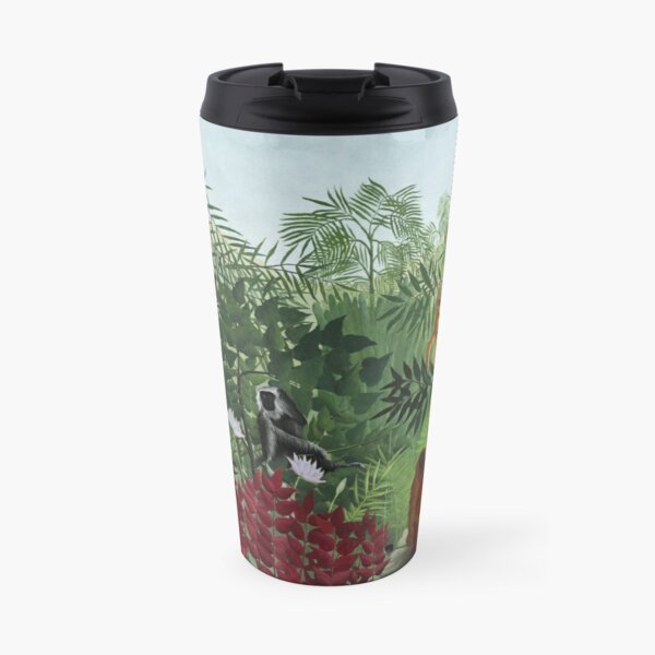 Tropical Forest with Monkeys Travel Mug