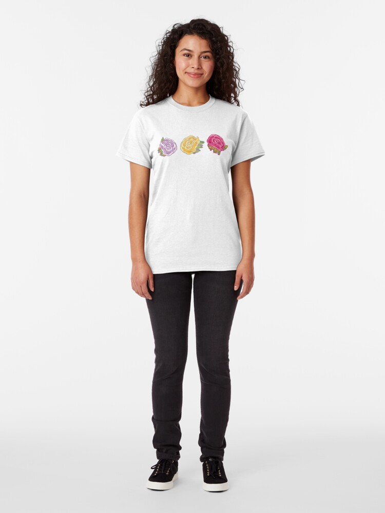 Alternate view of Decorative Roses Classic T-Shirt
