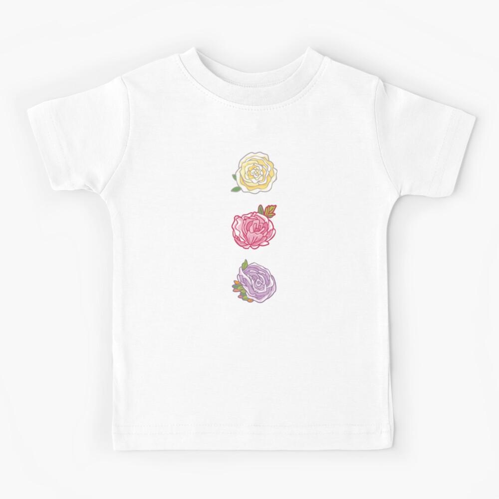 Decorative Roses Kids T-Shirt