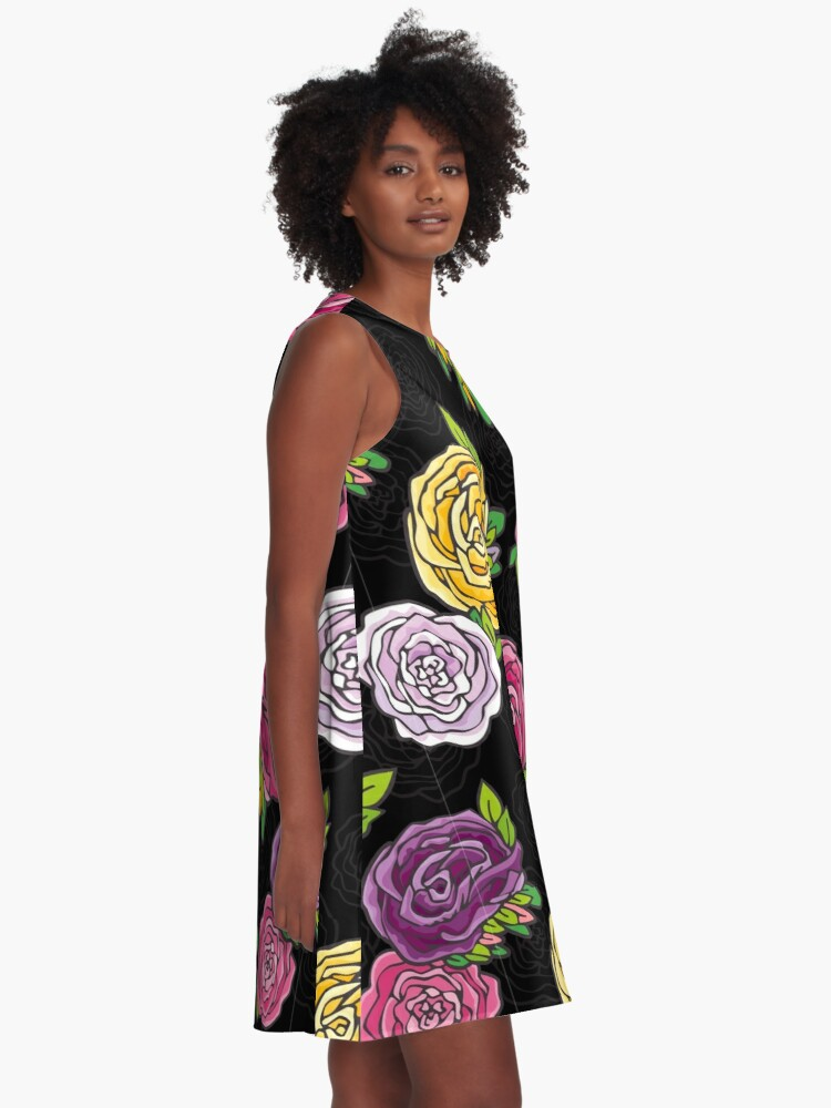 Alternate view of Vintage Roses A-Line Dress