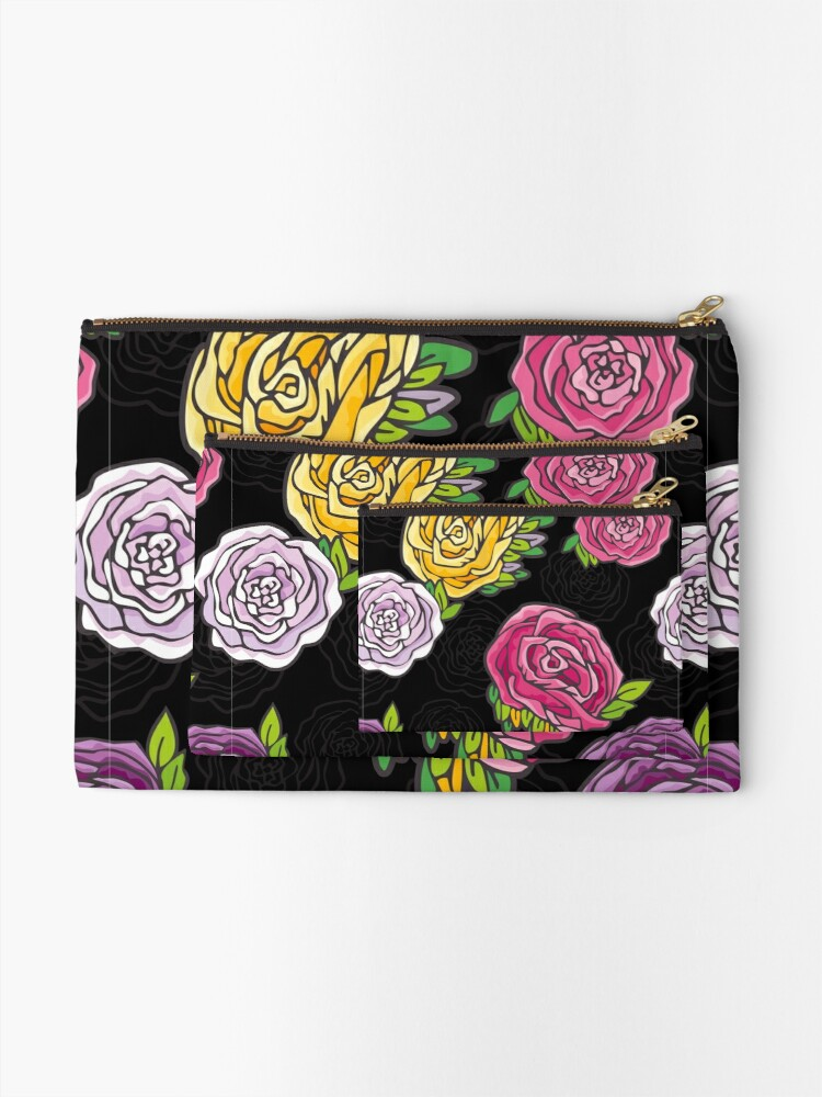 Alternate view of Vintage Roses Zipper Pouch