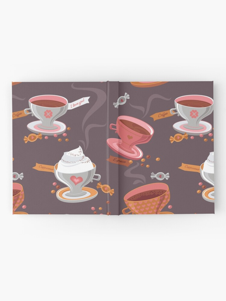 Alternate view of Coffee Pattern Hardcover Journal