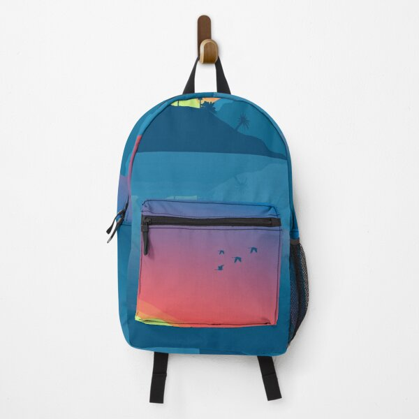 Simple Sunset Painting Backpack