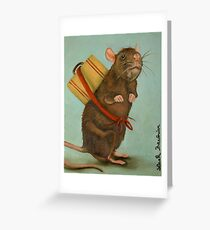 Pack Rat Greeting Card