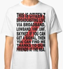 Z Nation: Citizen Z Speech Classic T-Shirt