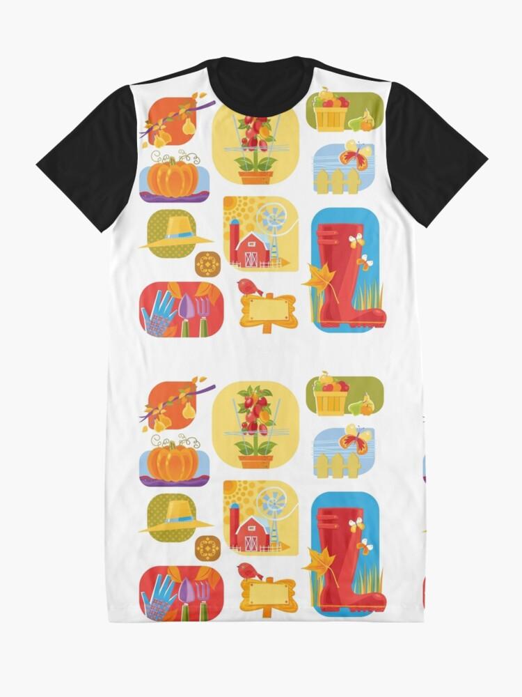 Alternate view of Autumn Farm  Graphic T-Shirt Dress