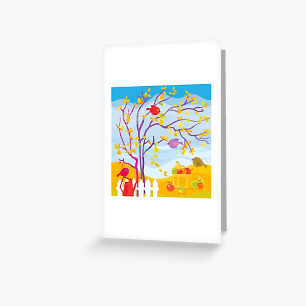 Autumn Farm Greeting Card