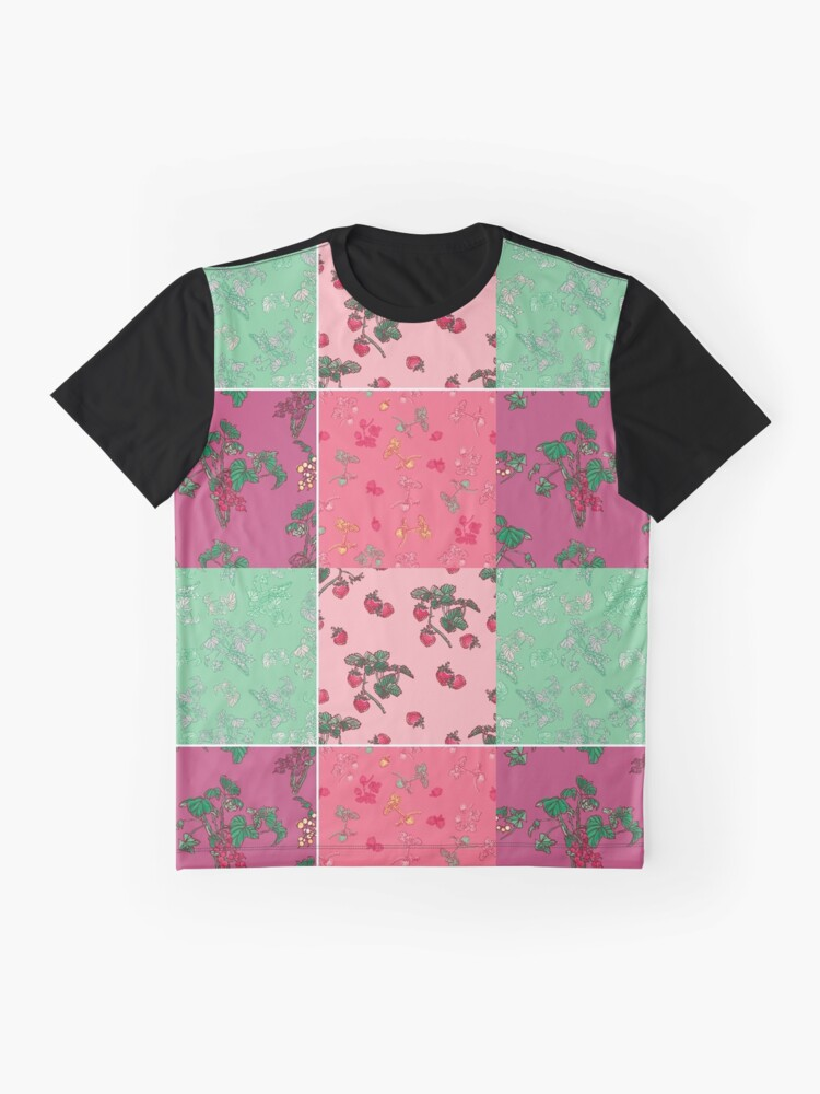 Alternate view of Decorative Berries Pattern Collection Graphic T-Shirt
