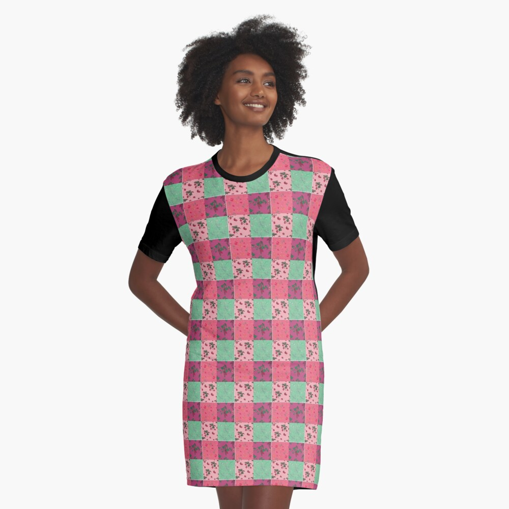 Decorative Berries Pattern Collection Graphic T-Shirt Dress