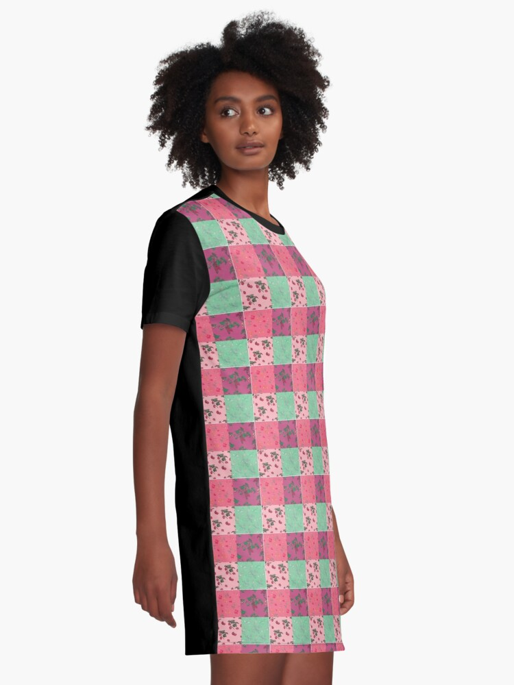 Alternate view of Decorative Berries Pattern Collection Graphic T-Shirt Dress
