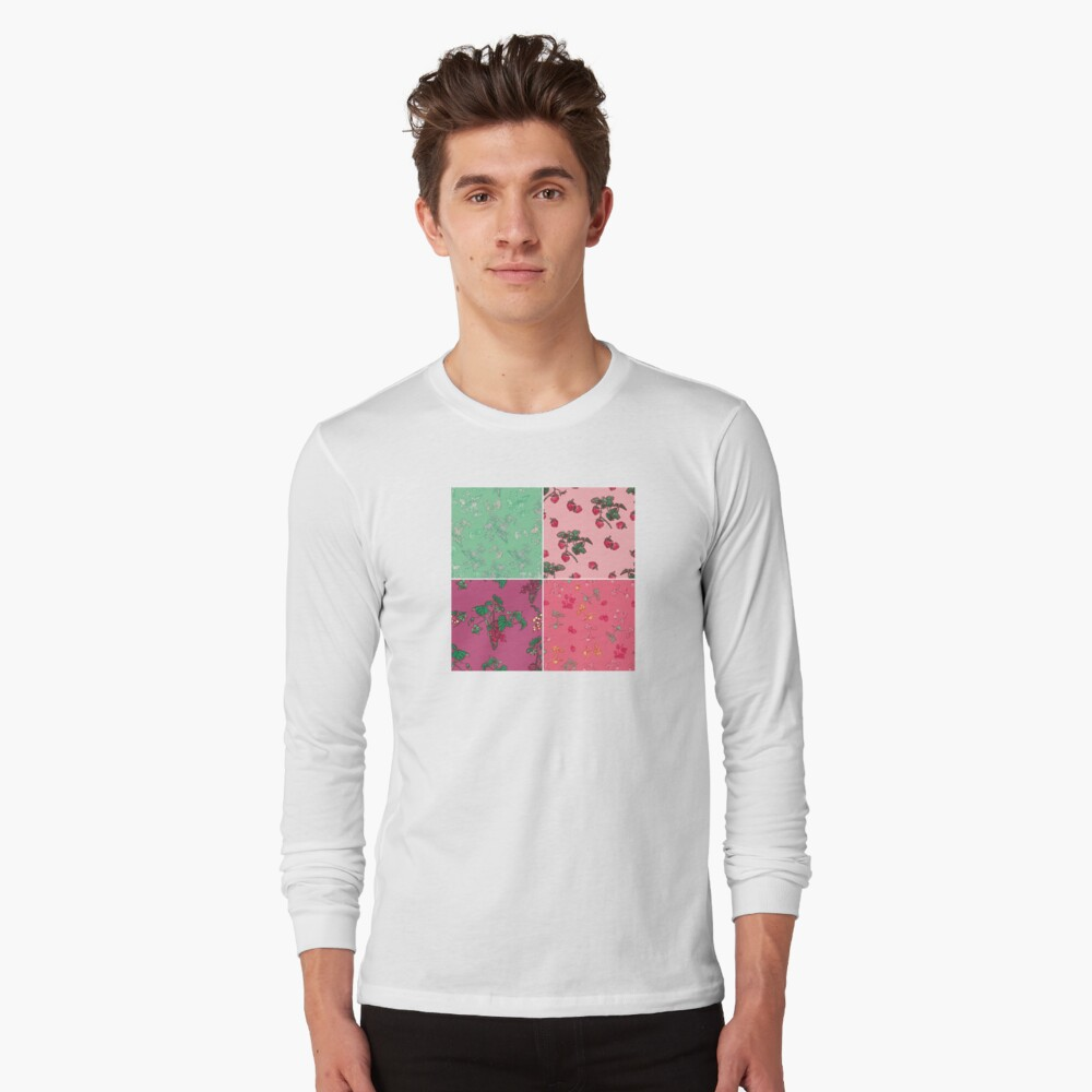 Decorative Berries Pattern Collection Long Sleeve T-Shirt