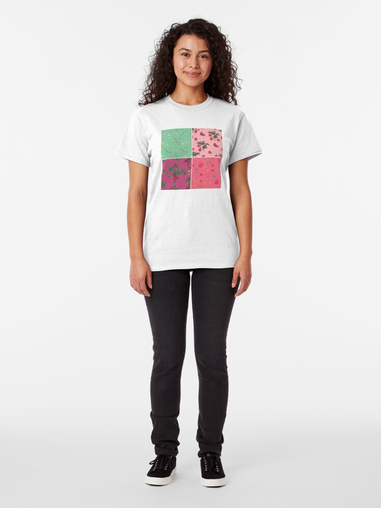 Alternate view of Decorative Berries Pattern Collection Classic T-Shirt