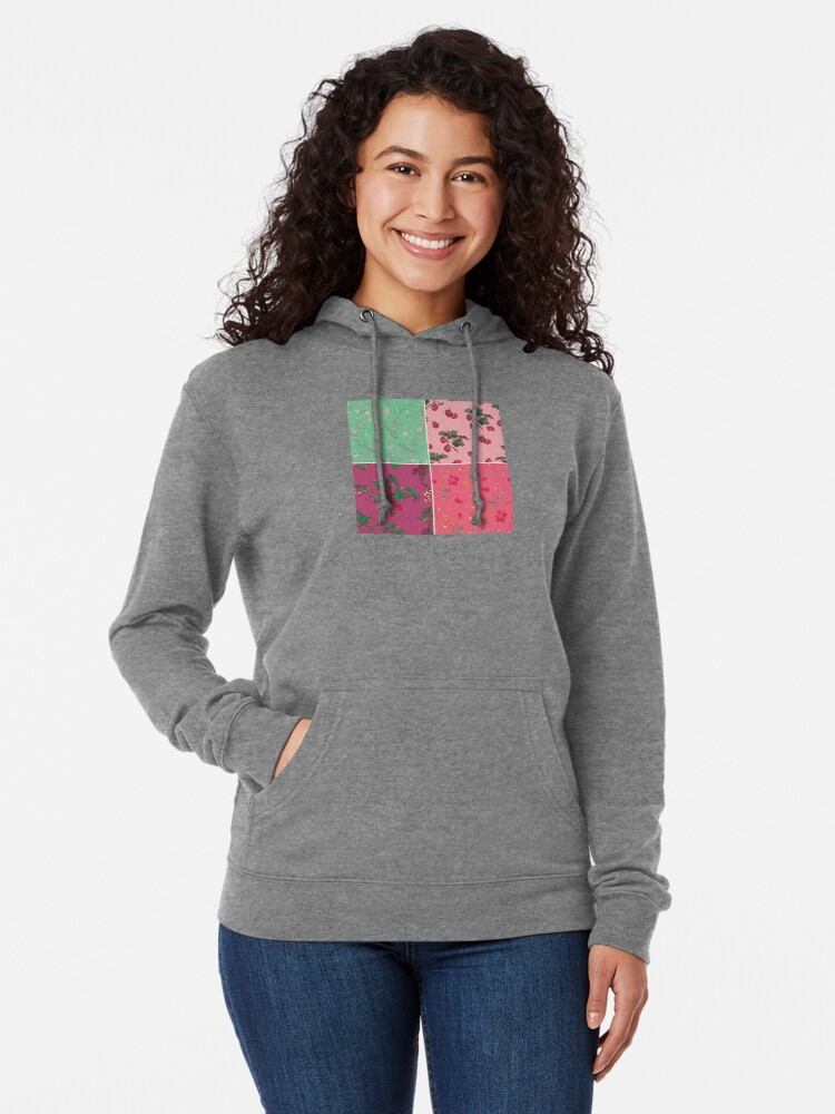 Alternate view of Decorative Berries Pattern Collection Lightweight Hoodie