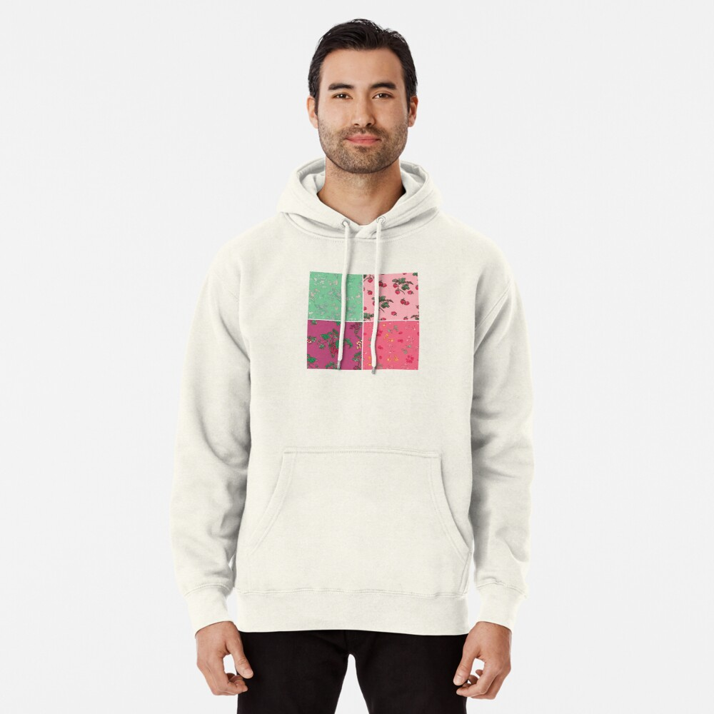 Decorative Berries Pattern Collection Pullover Hoodie