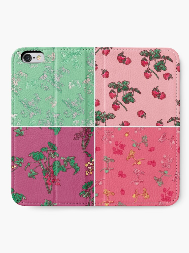 Alternate view of Decorative Berries Pattern Collection iPhone Wallet