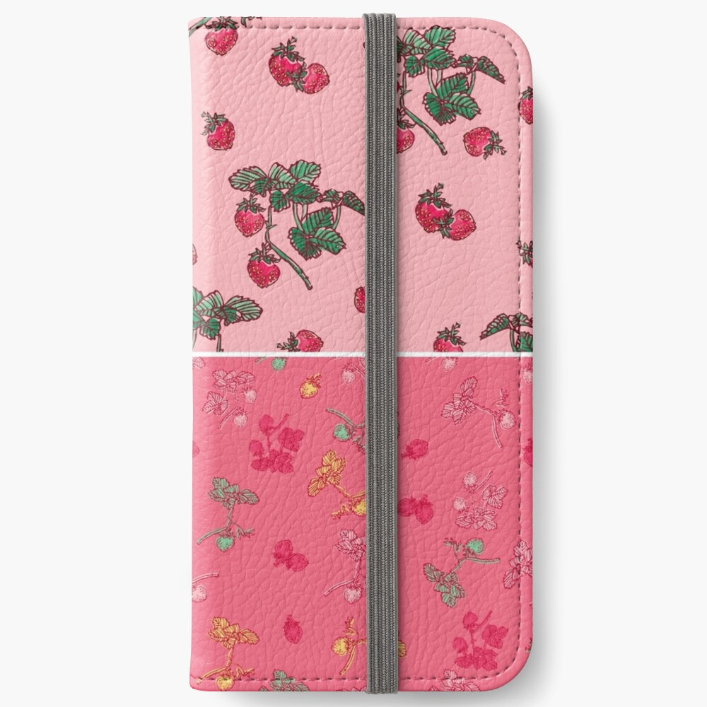Decorative Berries Pattern Collection iPhone Wallet