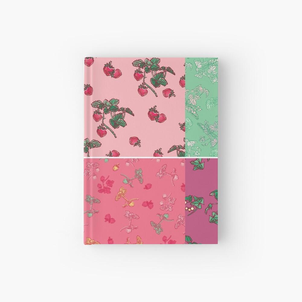Decorative Berries Pattern Collection Hardcover Journal