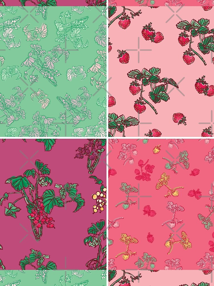 Decorative Berries Pattern Collection by rusanovska
