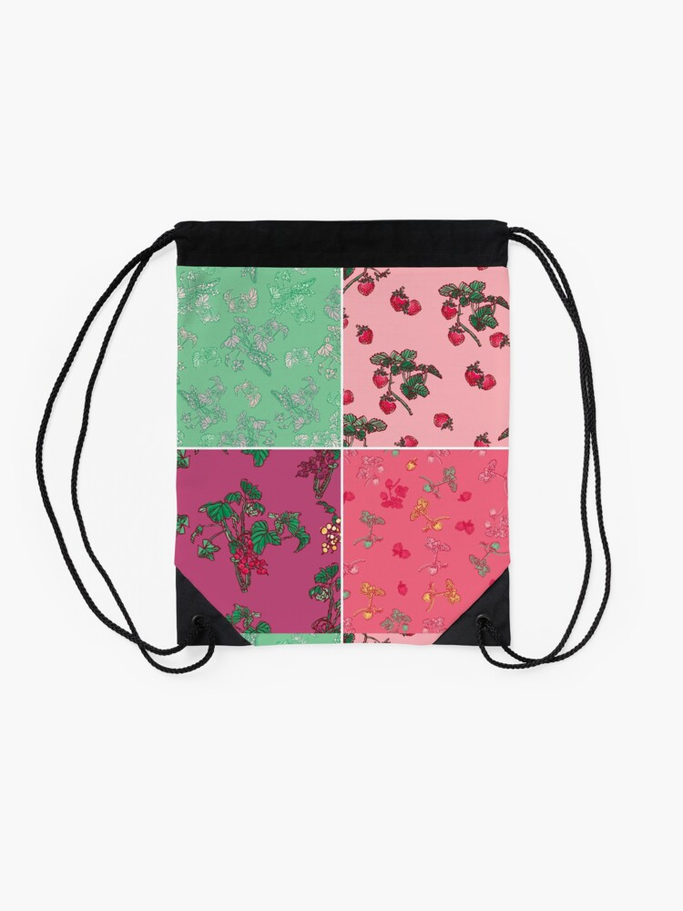 Alternate view of Decorative Berries Pattern Collection Drawstring Bag